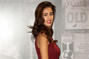 Beautiful Disha Patani in Red Lips and Dress Photo